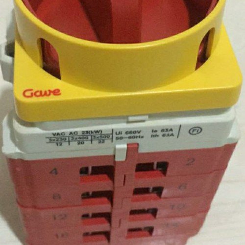 Foto Produk Gave Change Over Switch COS 1-0-2 100A 100 A Amper 4 Pole Not COMO dari SURYA-ELEKTRIK