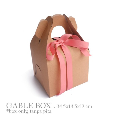 Foto Produk GABLE BOX : KRAFT LINER 360gr / BOX TOPLES / BOX HAMPERS / BOX KUE dari ashadewi gayatri