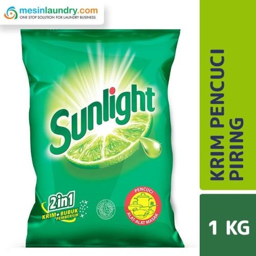 Foto Produk Sunlight Lime Cream Pouch Sabun Cuci Piring 1 KG dari Mesinlaundry