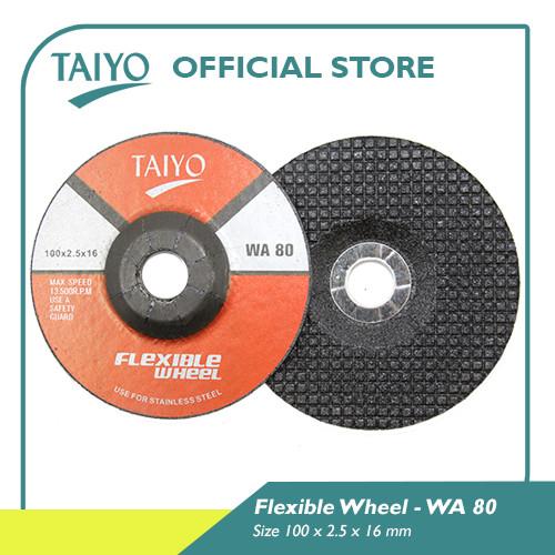 Foto Produk Taiyo Flexible Wheel Blue Line For Metal 103mm - WA 80 dari Taiyo Perkakas Official