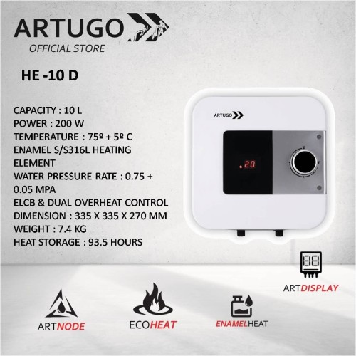 Foto Produk ARTUGO Water Heater HE 10 D dari ARTUGO official store
