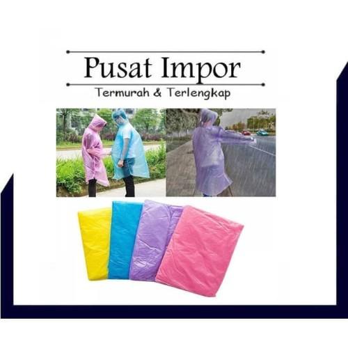 Foto Produk Jas Hujan Plastik Sekali Pakai Transparan Tipis dari Pusat Impor
