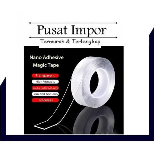 Foto Produk Nano Magic 1 m Double Tape Bening Tahan Air 30mm x 1m TAPE PU SOFT GEL dari Pusat Impor