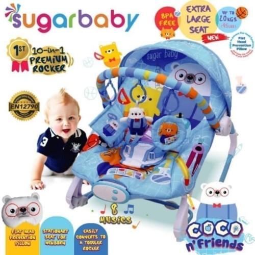 Foto Produk MUCH Bouncer SugarBaby Premium Rocker 10 in 1 dari MUCH Baby Store