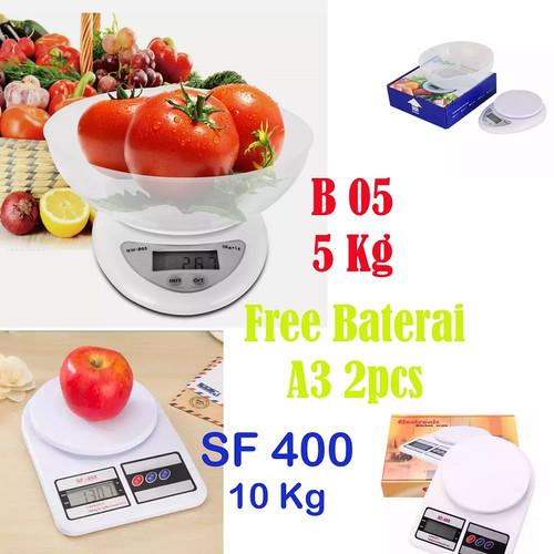 Foto Produk TIMBANGAN DIGITAL MANGKOK - Timbangan Kue Dapur Digital Mangkuk B05 - SF 400, Kemasan Kardus dari dajessvin