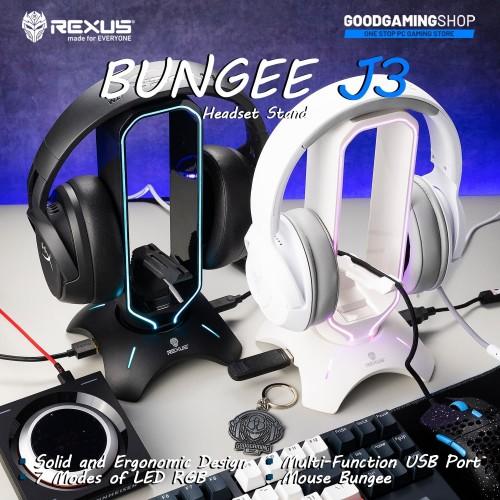 Foto Produk Rexus Headset Stand Bungee J3 RGB with USB Hub - Putih dari GOODGAMINGM2M