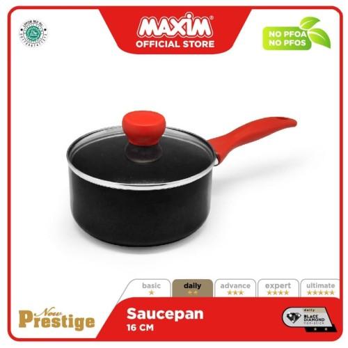 Foto Produk Maxim New Prestige Saucepan 16cm + Tutup Kaca dari Maxim Official Store