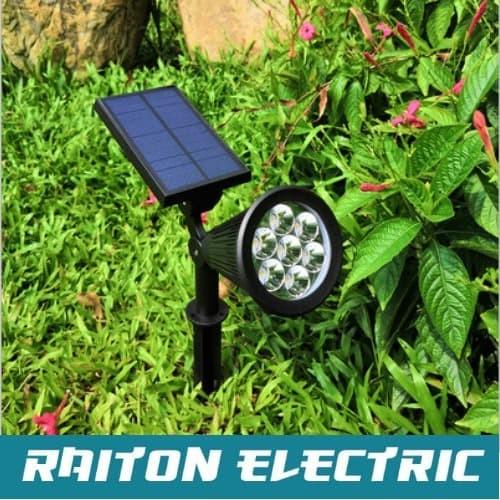 Jual Lampu Taman Solar Lampu Sorot Tenaga Surya Lampu Penerangan 7 Led 7w Kuning Jakarta Pusat Rtwo Electric Tokopedia