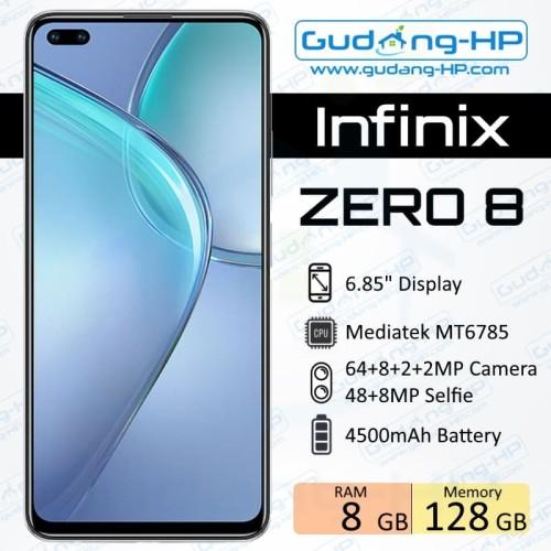 Foto Produk Infinix Zero 8 8/128 GB Garansi Resmi - Silver dari Gudang-HP