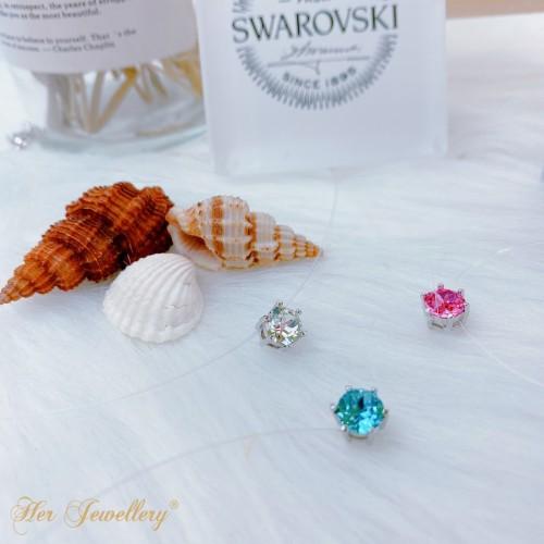Foto Produk Mermaid's Tears Pendant - Kalung Nylon Swarovski by Her Jewellery - Crystal dari Her Jewellery