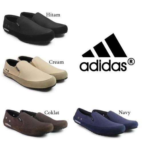 Foto Produk Murah Adidas Master Nevy Sepatu Slop kets pria Santai terlaris - 39, Hitam dari PABRIK SEPATU BANDUNG88