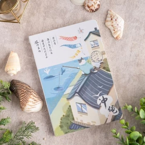 Foto Produk UCHII A5 KISETSU Notebook Japanese Painting | Buku Catatan Hard Cover - KAKI - Summer dari uchii store