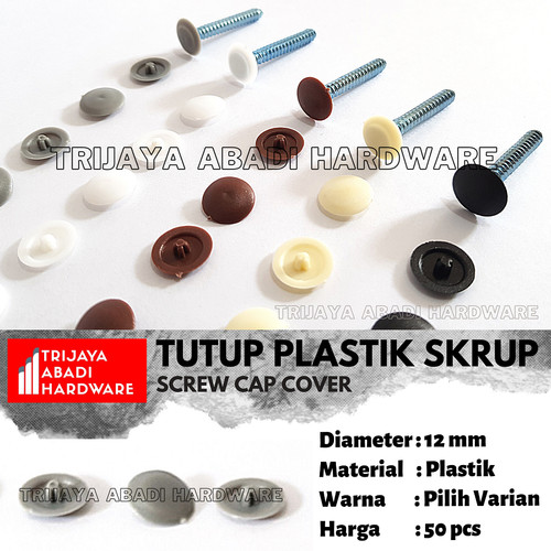 Foto Produk Tutup Skrup Plastik - Plastic Screw Cap Cover - Putih dari Trijaya Abadi Hardware