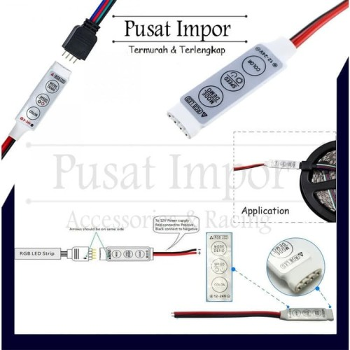 Foto Produk Led Controller Rgb Dimmer Mini 12-24V 6A Modul Led Controler Dimmer B dari Pusat Impor