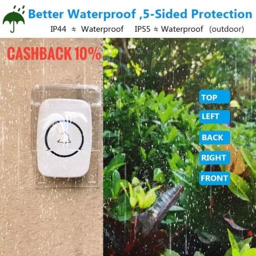 Foto Produk Bel Rain Cover Pelindung Tombol Bel Rumah Anti Hujan Transparan Kuat dari Asyam Weiseman