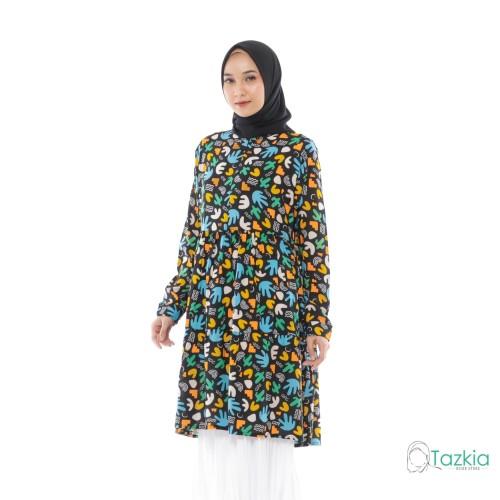 Foto Produk Atasan Muslim Wanita | Arabelle Tunik Hitam | Rayon Viscose | Original - Size 1 dari Tazkia Hijab Store
