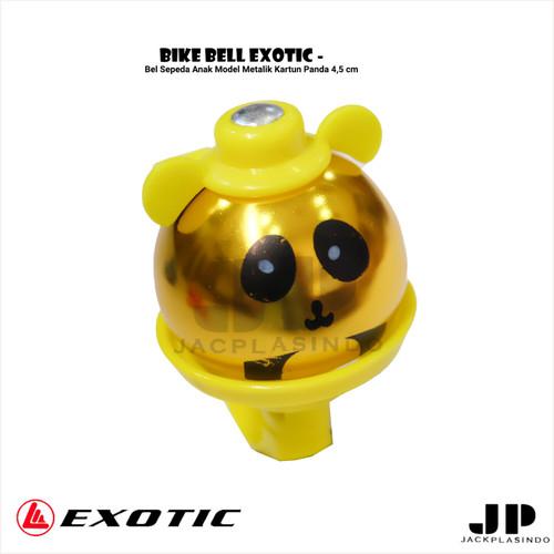 Foto Produk Bike Bell Exotic - Bel Sepeda Anak Model Metalik Kartun Panda 4,5 cm - Gold Metalik dari jackplasindo