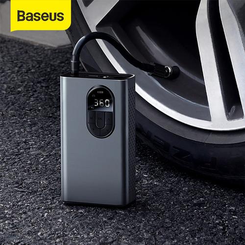 Foto Produk BASEUS ENERGY SOURCE INFLATOR POMPA BAN MOBIL ELEKTRIK AUTO POWER OFF - Hitam dari Baseus Official Store