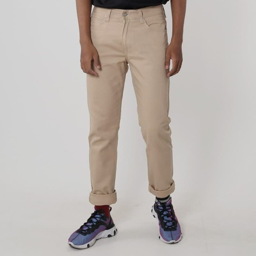 Foto Produk Edwin Celana Jeans Chinos Milan-018 Regular Fit Pria Panjang Cream - 31 dari Edwin Jeans