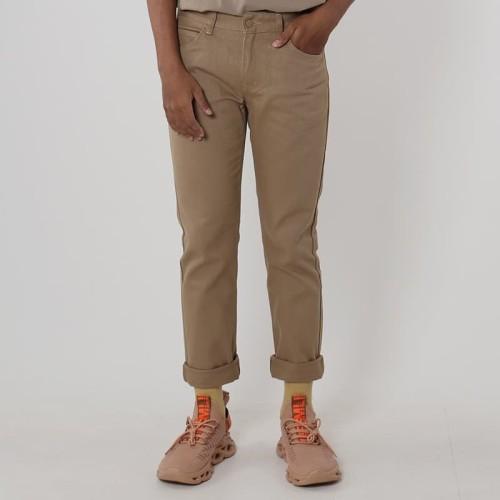 Foto Produk Edwin Celana Jeans Milan-018 Regular Fit Pria Panjang Khaky - Cokelat Muda, 32 dari Edwin Jeans