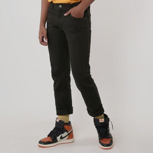 Foto Produk Edwin Celana Jeans Chinos Milan Regular Fit Pria Panjang Army Green - 32 dari Edwin Jeans