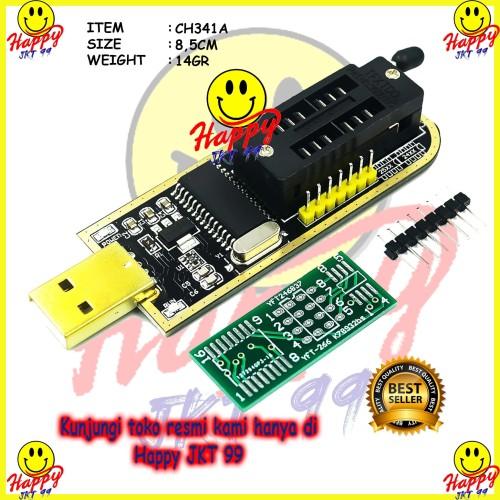 Foto Produk HIGH QUALITY CH341A CH341 24 25 Series EEPROM Flash BIOS USB Programer dari Happy Jkt 99