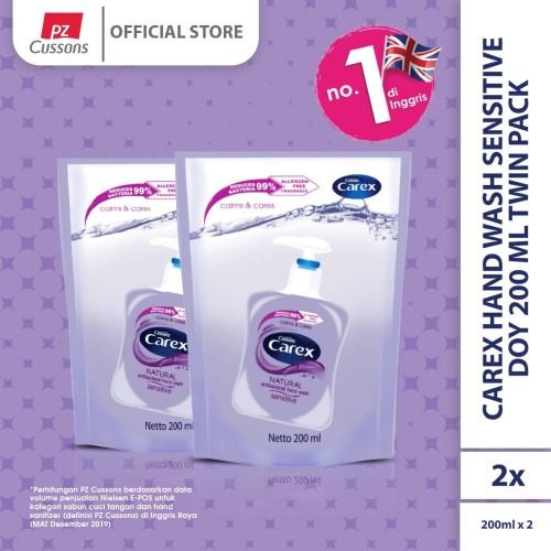 Foto Produk Carex Hand Wash Sensitive DOY 200 ml Twin Pack dari Cussons Official Store