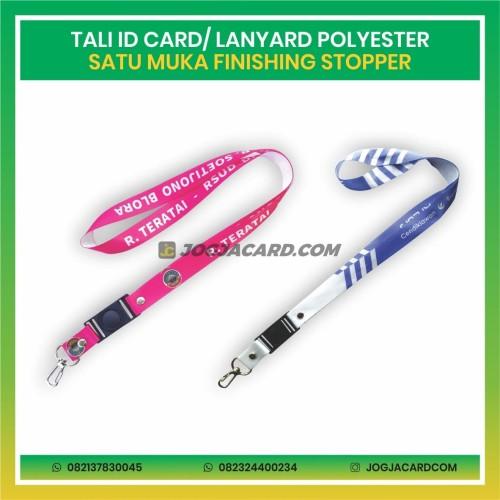 Foto Produk Tali Id Card Polyester Satu Muka + Stopper   Tali IDCard   Tali Custom dari jogjacardcom