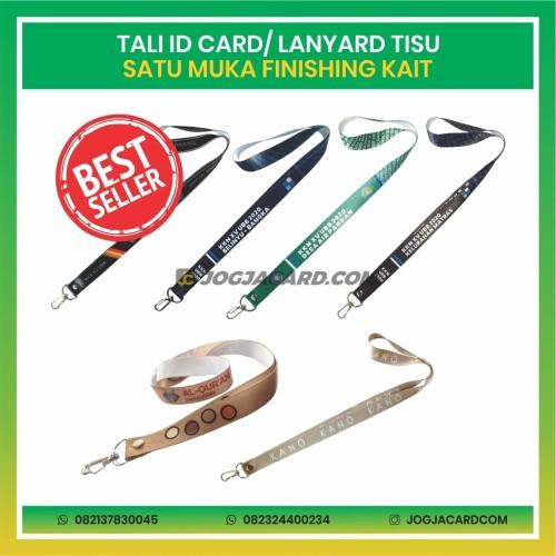 Foto Produk Tali Id Card Tisu Satu Muka + Kait | Lanyard Printing Id Card dari jogjacardcom