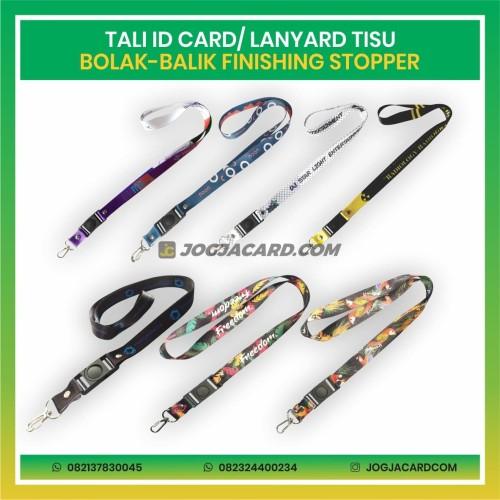 Foto Produk Tali Id Card Tisu Dua Muka + Stopper | Tali Id Card | Lanyard Custom dari jogjacardcom