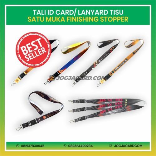 Foto Produk Tali Id Card Tisu Satu Muka + Stopper | Tali Lanyard | Lanyard Custom dari jogjacardcom