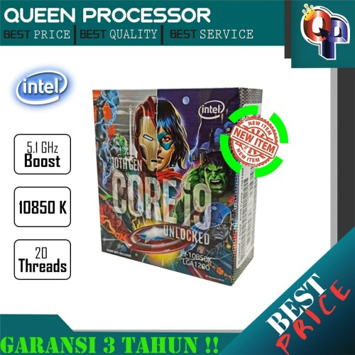 Foto Produk PROCESSOR Intel Core i9 10850K 3.6Ghz Cache 20MB [Box] LGA 1200 dari QUEENPROCESSOR
