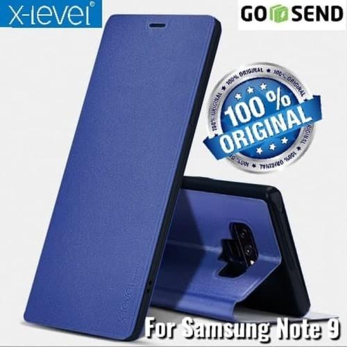 Foto Produk Samsung Galaxy Note 9 X-LEVEL FIB COLOR Flip cover Leather Case Kulit dari Jakey Online Shop