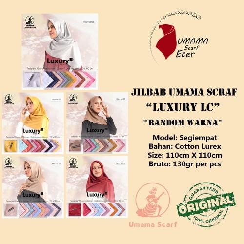 Foto Produk Jilbab Mewah Umama LUXURY PLAIN LC jual RANDOM Warna Satuan dan Grosir dari Istanajilbabumama