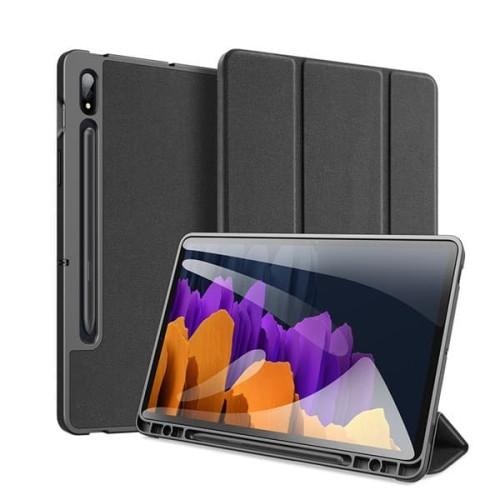 Foto Produk Case Samsung Galaxy Tab S7 | S7+ Plus Dux Ducis Domo Book Cover Casing - Biru, S7 dari Pine Premium Gadget Acc