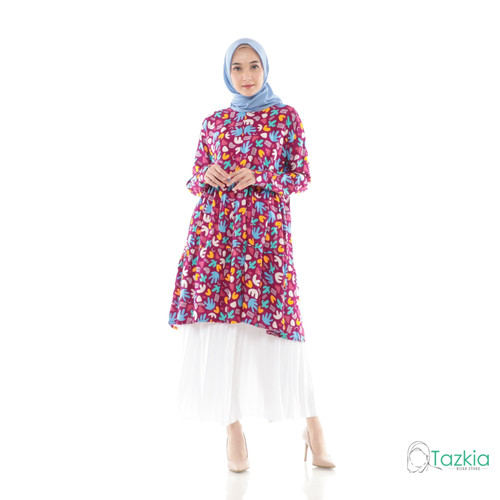 Foto Produk Atasan Muslim Wanita   Arabelle Tunik Magenta   Rayon Viscose Original - Size 1 dari Tazkia Hijab Store