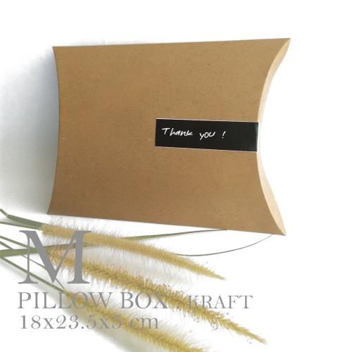 Foto Produk [PILLOW BOX MEDIUM: 18x23.5x5 cm] dus / box / kemasan / paperbox dari fave paper