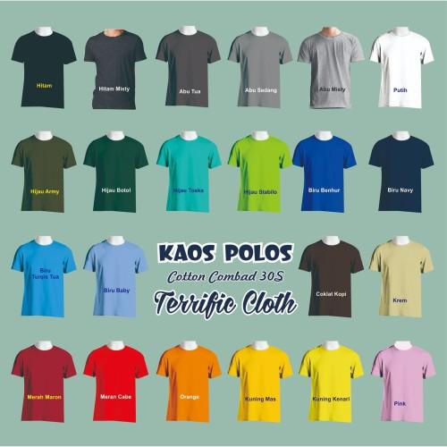 Foto Produk Kaos Polos Cotton Combed 30S dari Terrific