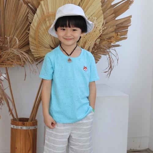 Foto Produk Kaos Polos Anak - Anak   L055 Galaxy Basic Tee by Little Jergio - MEDIUM dari Little Jergio
