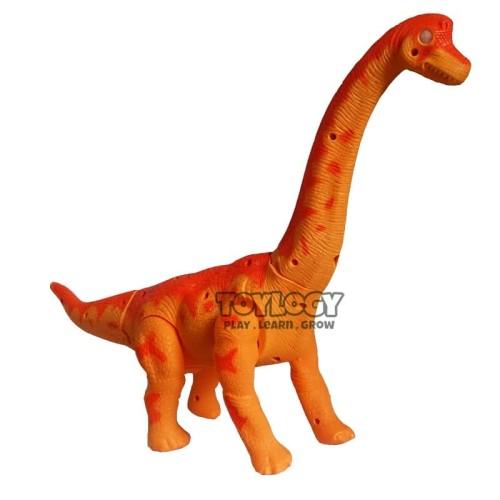Foto Produk Walking Dinosaurus Brachiosaurus ( Robot Dino Brontosaurus Orange ) dari Toylogy