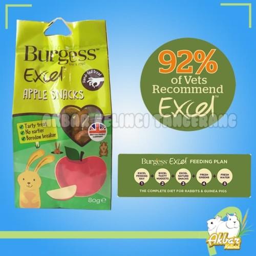 Foto Produk Makanan Kelinci Burgess Apple Snack 80gram dari Akbar Kelinci Tangerang