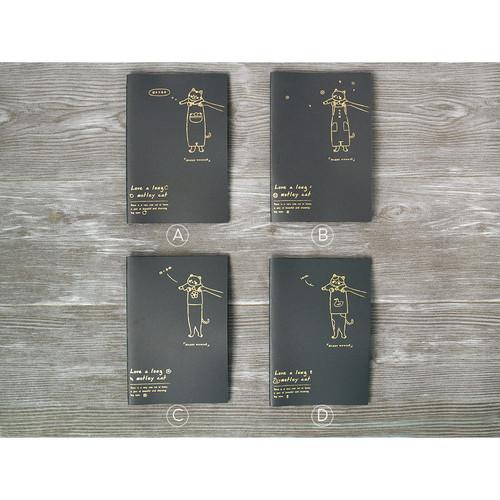 Foto Produk Motley Cat Black Paper Plain Notebook B5 / Buku Tulis Hitam / Buku B5 - Varian C dari Pinkabulous
