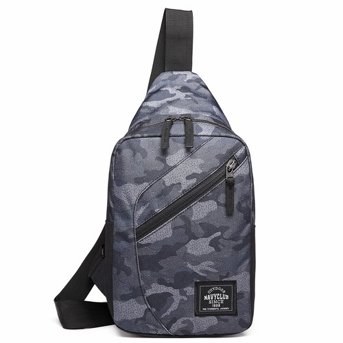 Foto Produk Navy Club Tas Trendy Selempang Tas Dada Tahan Air - Sling Bag FJBC - Abu-abu dari Navy Club Official Store