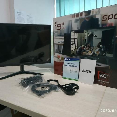 "Foto Produk LED Monitor 19"" inch Full HD HDMI VGA Input SPC Garansi Resmi dari Harco Komputer"
