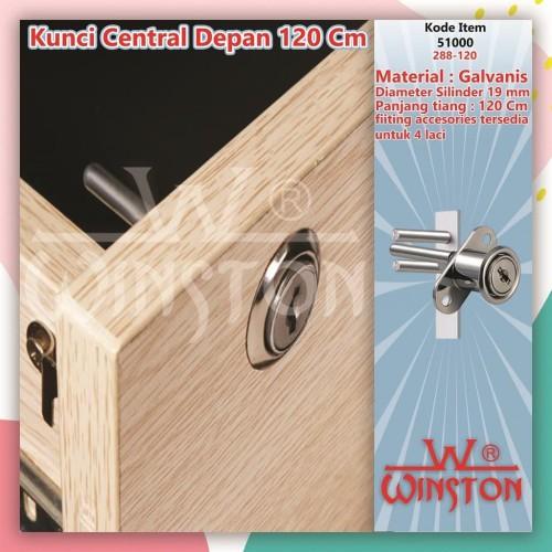 Foto Produk Kunci Laci Central Depan WINSTON 288-120 cm Meja Kantor Rumah dari WINSTON SUKSES ABADI