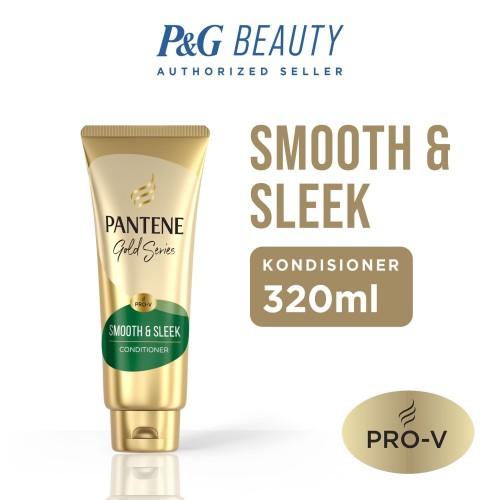 Foto Produk Pantene Conditioner Gold Series Smooth and Sleek 320ml dari P&G Official Store
