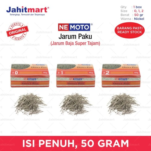 """Foto Produk JARUM PAKU / JARUM OFFICE PINS """"NEMOTO"""" NO. 0, 1, 2 - NO. 0 dari jahitmart"""