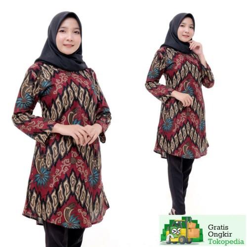 Foto Produk Atasan Batik Tunik Wanita - M dari Meyda_Batik