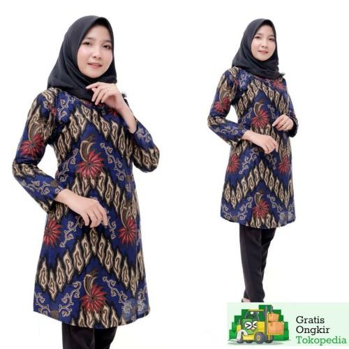 Foto Produk Tunik Batik Atasan Wanita Terbaru - M dari Meyda_Batik