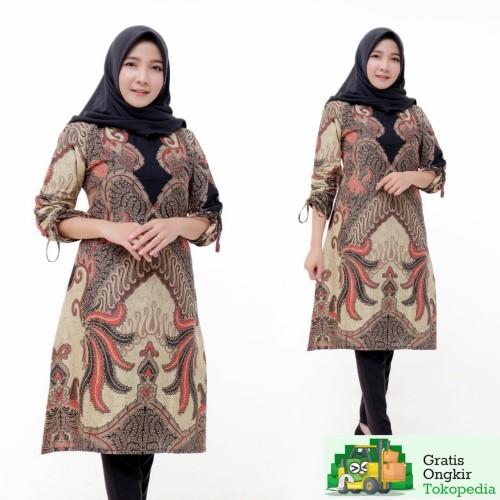 Foto Produk Tunik Batik Fashion Wanita Terbaru 2020 - M dari Meyda_Batik